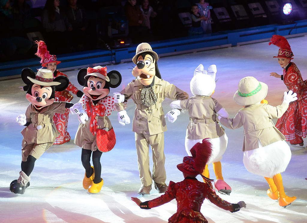 . Disney on Ice characters perform Passport to Adventure at the Sun National Bank Center on Thursday. The show runs through Sunday  gregg slaboda photo