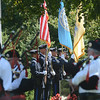 Color guard present the flags at the begining of the September 11th memorial service in Veterans Park Monday on the 16th anniversary of the September 11th terrorist attacks.<br /> John Berry - The Trentonian