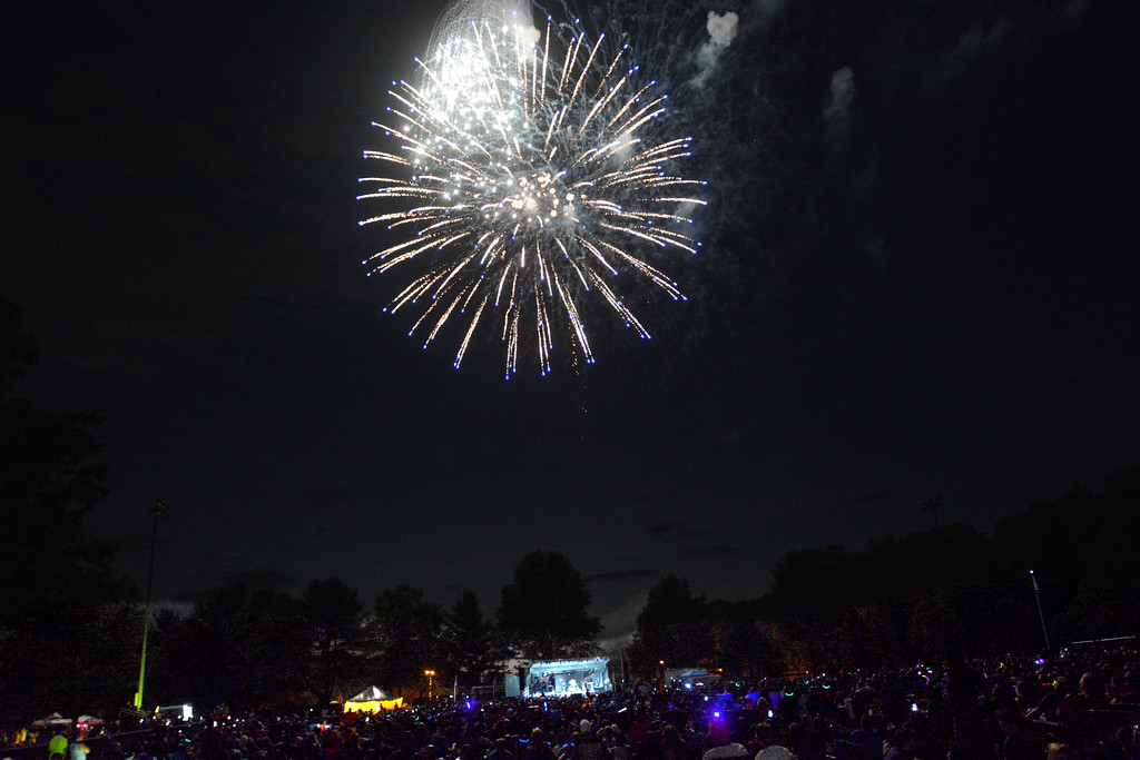 . The fireworks display at Hamilton�s Independence Day celebration at Veterans Park Monday evening. 