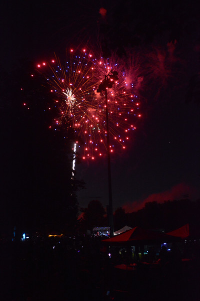 The fireworks display at Hamilton's Independence Day celebration at Veterans Park Monday evening. <br /> John Berry - The Trentonian