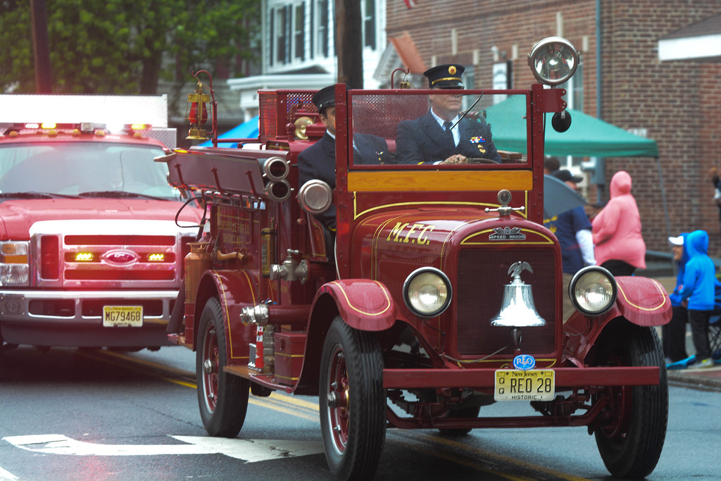 . Mercerville Fire Company�s antique fire truck was part of the Hamilton Square Memorial Day parade Monday.