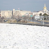 Ice in the Delaware river along 29 in Trenton caused road closures along the highway for much of Monday morning. <br /> John Berry - The Trentonian