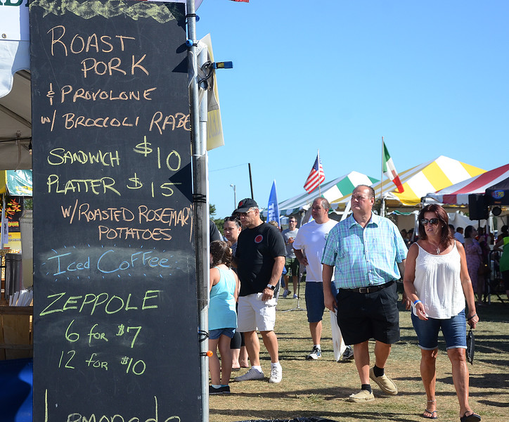 People  attending the Italian-American Festival at Mercer County Park on Saturday had plenty of food choices. gregg slaboda photo