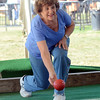 Emily Sciarrotta plays Bocce ball at the Italian-American Festival. gregg slaboda photo