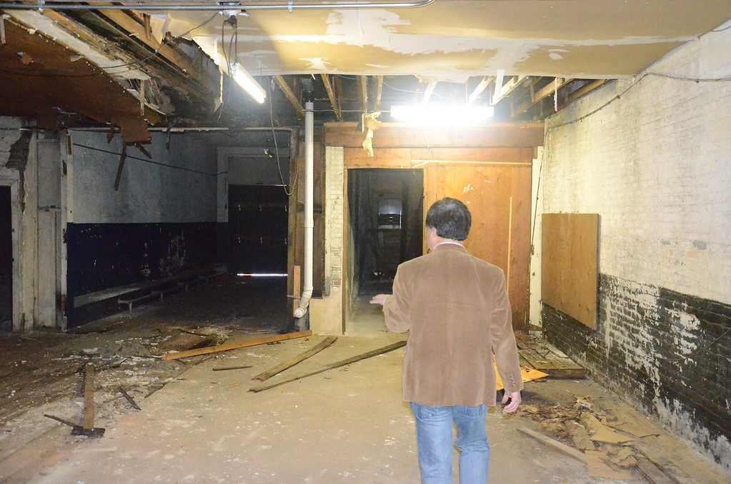 . This abandoned property on North Warren Street owned by Mercer County Community College will be renovated into a fashion store, warehouse and student learning center.  (Penny Ray - Trentonian)