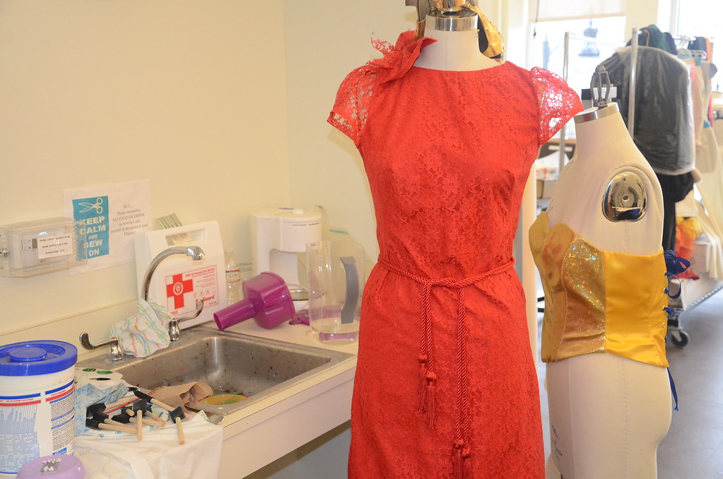 . Some of the pieces being prepared for an upcoming fashion show at MCCC. (Penny Ray - Trentonian)