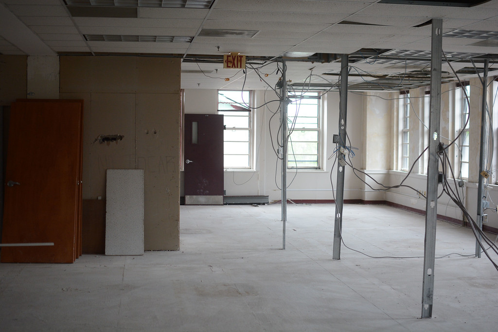 . The interior of 101 N. Broad St in Trenton which will be fixed up for use by Mercer County Community College�s Trenton campus. 