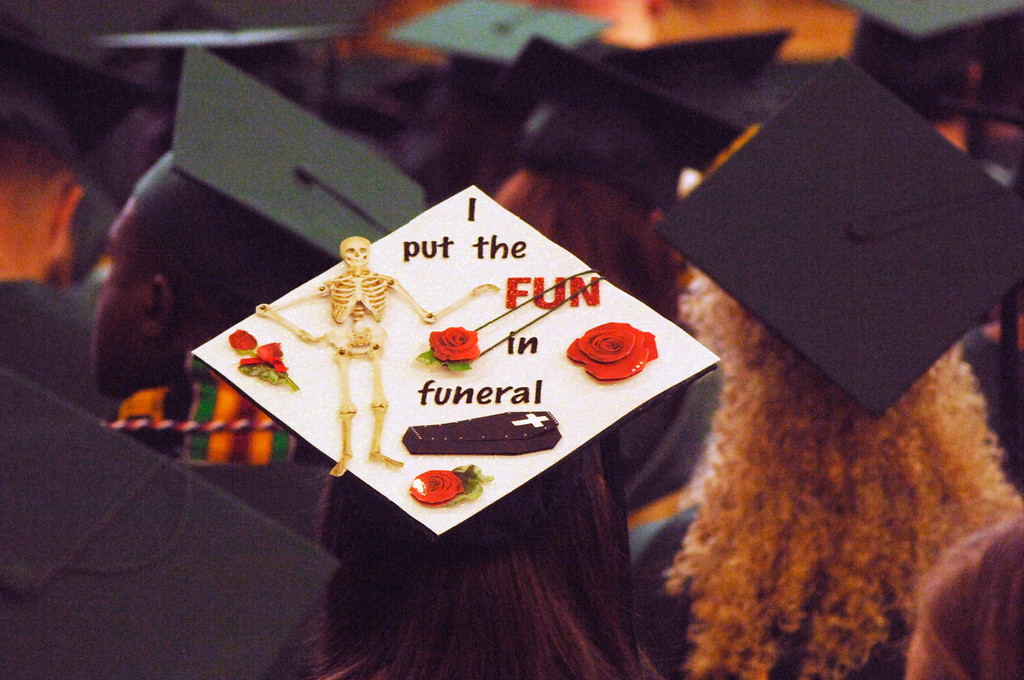 . Graduates got creative with their caps at the MCCC ceremony.