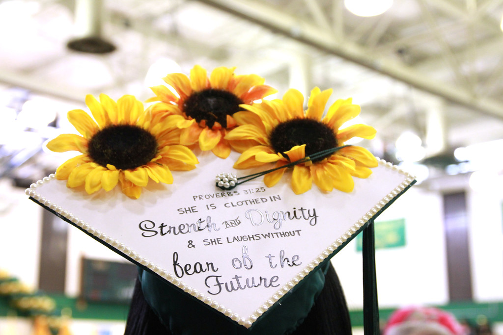 . Graduates got creative with their caps at the MCCC ceremony.Courtesy of Mercer County Community College