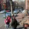 People walk along  Mercer st during the 51st Annual Mill Hill Holiday House Tour. gregg slaboda photo