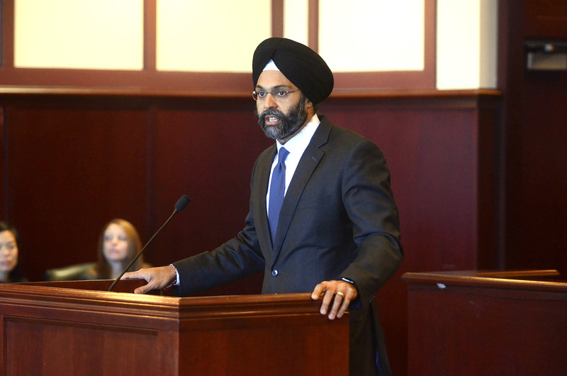 New Jersey Attornery General Gurbir Grewal was a guest speaker at a Naturalization Ceremony at the Federal Courthouse in Trenton on Monday. <br /> John Berry - The Trentonian