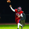 Neshaminy`s quarterback  Brody McAndrew throws a pass against Pennsbury. gregg slaboda photo