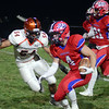 Neshaminy`s Ryan O`Connor(4) looks for running room against Pennsbury. gregg slaboda photo
