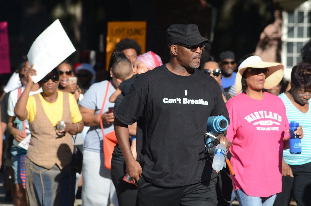 . Citizens marched through Trenton Monday promoting peace and calling for an end to police brutality. (Penny Ray - Trentonian)