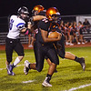 Pennsbury`s JayVon  McNeil picks up yardage against Central Bucks South. gregg slaboda photo