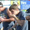 Carmen Cincotti(c)won the Trenton Thunder Case`s Pork Roll Eating Championship on Saturday by eating 40 pork roll sandwichs. gregg slaboda photo