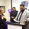 Seamon Smith presents a grant to UIH Family Partners and tells a story about how the group helped him through hard times by giving him the tie he's holding and help with a resume that got him on the path to gainful employment.<br /> John Berry - The Trentonian