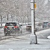 Cars travel south on a snowy Route 29 in Trenton on Wednesday afternoon. (Kyle Franko/ Trentonian Photo)