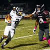 Steinert`s Jordan Morrison(l)carries the ball as Allentown`s Sadik Queen tries to make the tackle. gregg slaboda photo