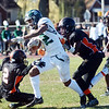 Steinert`s Jordan Morrison(2) fights for yardage against Hamilton. gregg slaboda photo