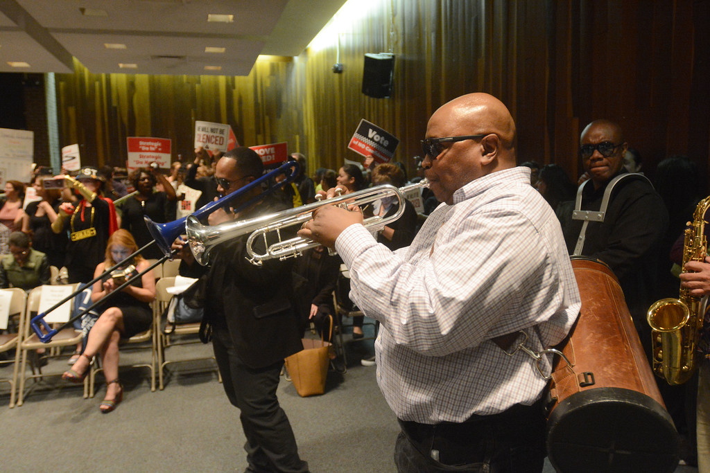 . The TEA brought a band with them for Monday�s board of education meeting to help them protest Superintendent Fred McDowell. 