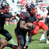 Trenton`s William Hackett carries the ball against Lenape. gregg slaboda photo