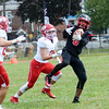 Trenton Mahsiah McRae pulls in a pass against Lenape. gregg slaboda photo