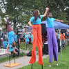 Members of the Trenton Circus Squad perform at the National Night Out event at Columbus Park. <br /> John Berry — The Trentonian