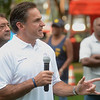 Trenton Police Director Ernie Parrey talks about community policing at the National Night Out event at Columbus Park in Trenton Tuesday. <br /> John Berry - The Trentonian