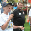 Trenton Mayor's chief of staff Francis Blanco talks to the crowd at a National Night Out event at Columbus Park in Trenton Tuesday. <br /> John Berry - The Trentonian