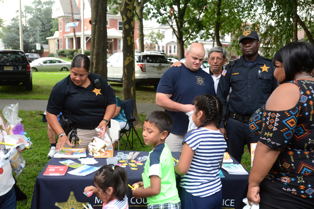 . Mercer County Sheriff�s Department gave our toys and stickers to the kids at the National Night Out event at Columbus Park in Trenton Tuesday. 