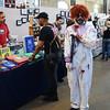 Rancid the clown (r) haunts the Trenton Punk Rock Flea Market on Saturday. gregg slaboda photo