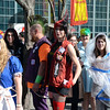 People wait in line at the Trenton Punk Rock Flea Market Halloween contest. gregg slaboda photo