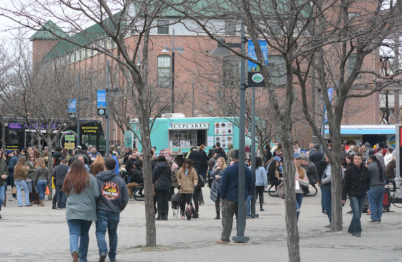 A wide variety of food truck options were a big draw at the Trenton Punk Rock Flea Market. <br /> John Berry — The Trentonian