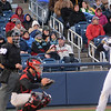 The crowd dealt with Cold weather at the Trenton Thunder home opener Thursday at Arm & Hammer Park.<br /> John Berry — The Trentonian