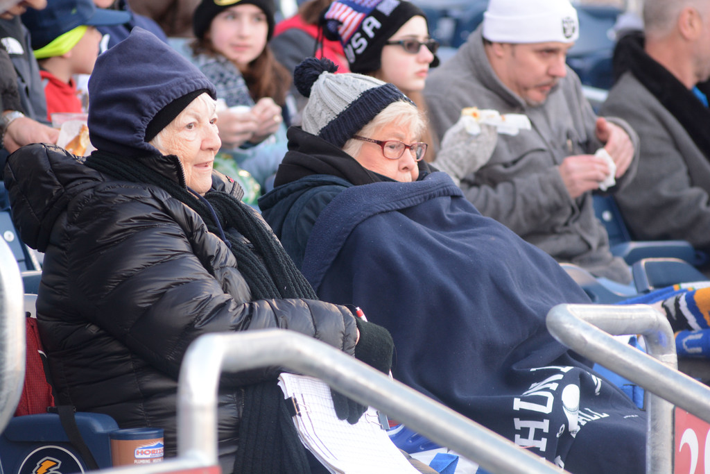 . Cold weather at the Trenton Thunder home opener Thursday at Arm & Hammer Park.