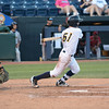 Trenton Thunder's Nick Solak hits during Friday night's game at Arm & Hammer Park in Trenton. <br /> John Berry — The Trentonian