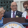 Trenton Mayor Reed Gusciora takes the oath of office as administered by his former assembly colleague Shirley Turner. <br /> John Berry -- The Trentonian