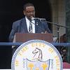 Trenton City Clerk Dwayne Harris at Sunday's inauguration ceremony. <br /> John Berry -- The Trentonian