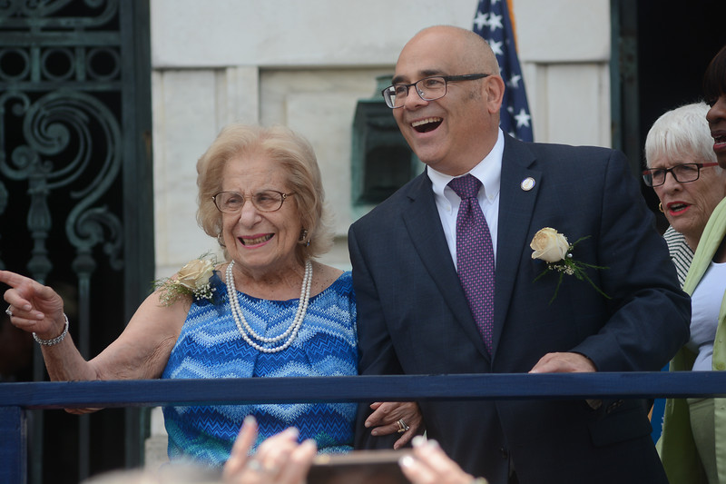 Trenton Mayor Reed Gusciora with his mother. <br /> John Berry -- The Trentonian