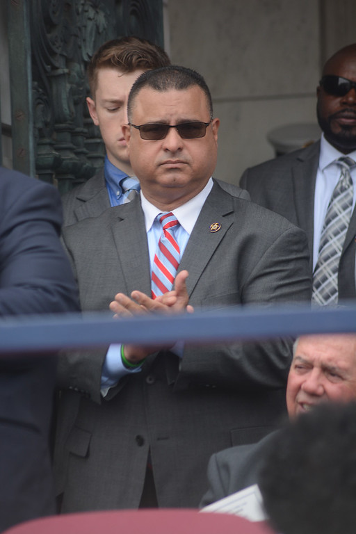 . Trenton\'s Acting Police Director Pedro Medina at City Hall for Sunday\'s inauguration ceremony.   John Berry -- The Trentonian