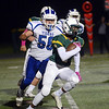 West Windsor -Plainsboro South`s Xavier Smith(2) picks up yardage against Princeton. gregg slabodda photo
