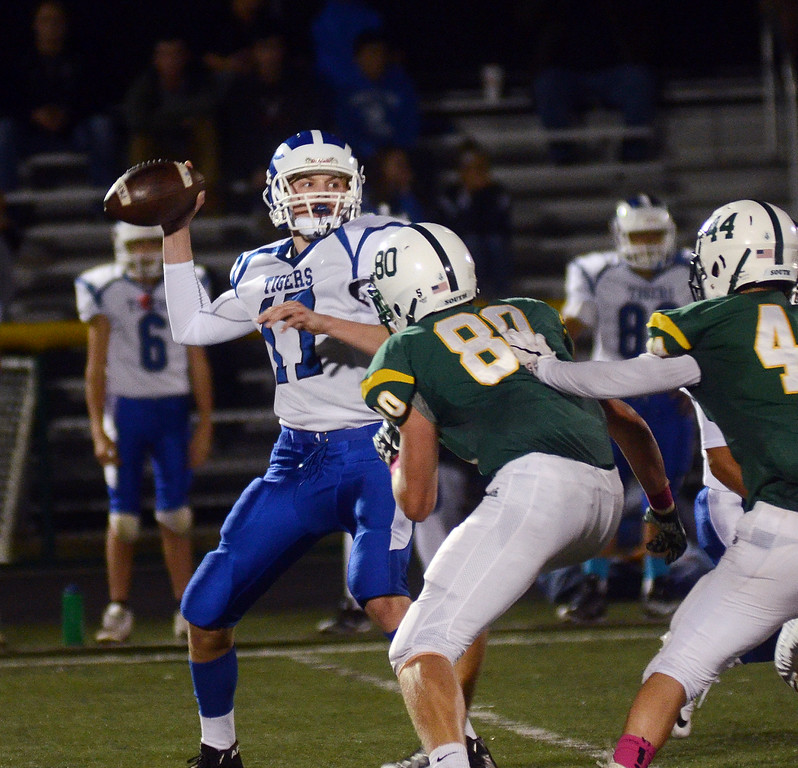 . Princeton QB Jake Renda throws a pass against West Windsor-Plainsboro South.  gregg slaboda photo