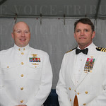 Navy Chief Aaron Reed and Captain Ed Gallrein US Navy, retired.