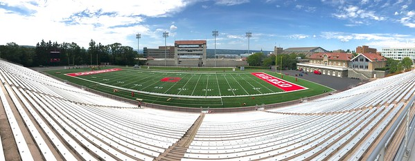 "This is where the ""Big Red"" of Cornell plays football."