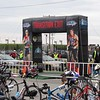 Exit from the bike staging area