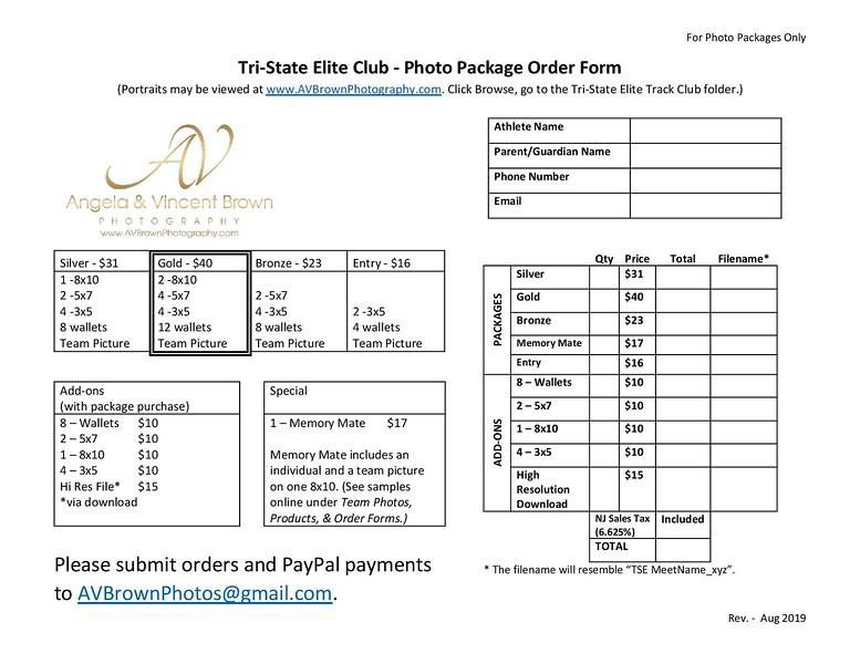 TSE Package Order Form_Aug 2019
