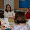 Betty Baker lending her expertise in Quilt Guild shows
