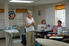 Our Queen Bee - Susi Looney<br /> At our new meeting location - Quilter's Crossing in Tomball.<br /> Barbara and Diana