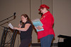 Mandy present gift to outgoing Pres - Charmaine<br /> and reads an original poem by herself